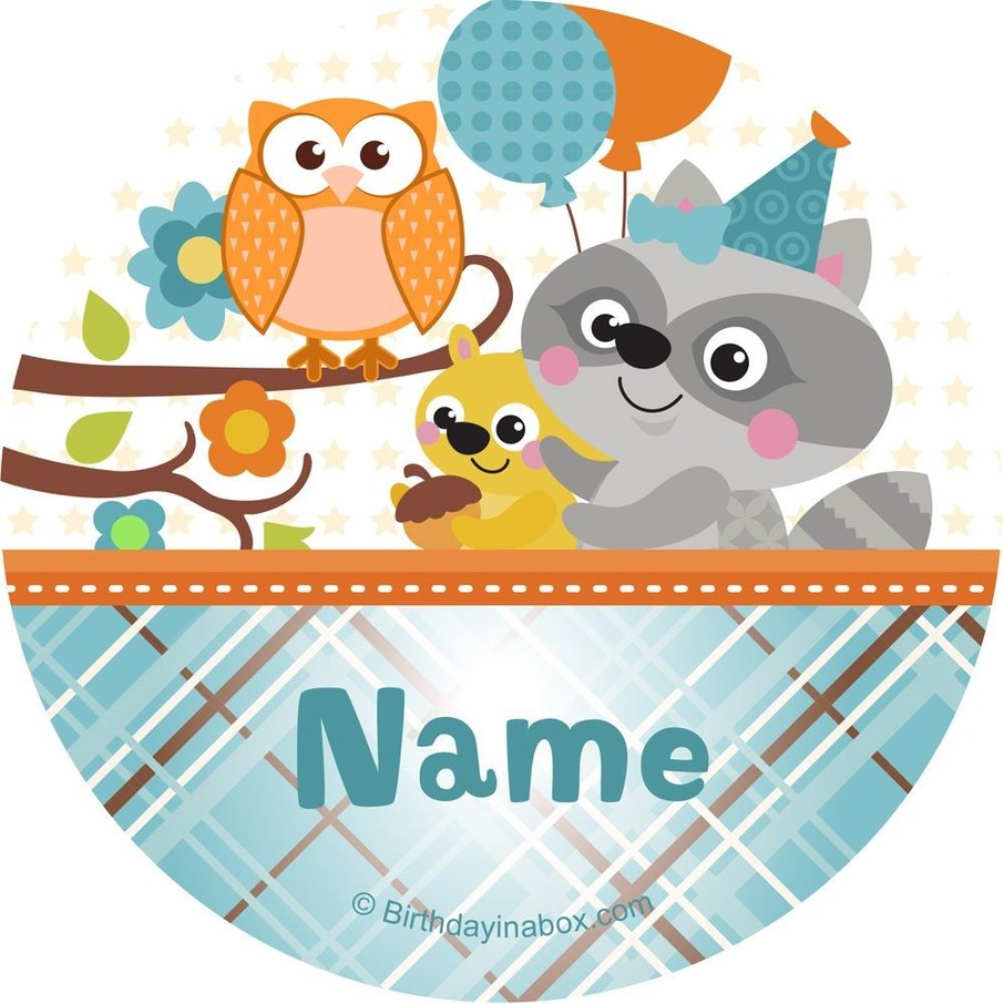 View larger image of Nature Blue Personalized Stickers (Sheet of 12)