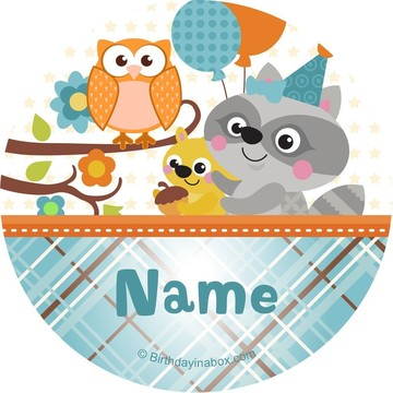 Nature Blue Personalized Stickers (Sheet of 12)