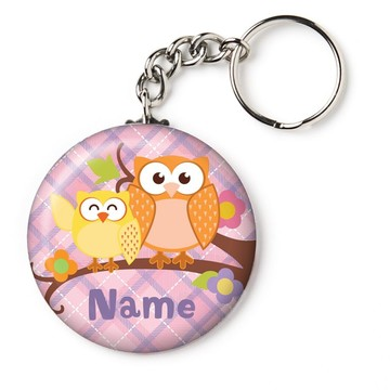 "Nature Pink Personalized 2.25"" Key Chain (Each)"
