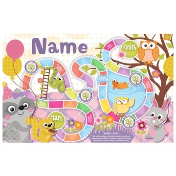 Nature Pink Personalized Activity Mat (8 Pack)