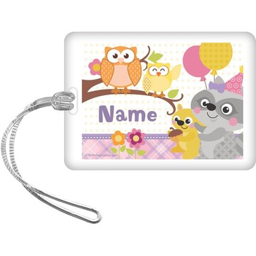 Nature Pink Personalized Bag Tag (Each)