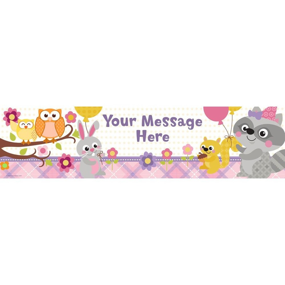 View larger image of Nature Pink Personalized Banner (Each)