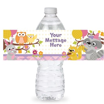 Nature Pink Personalized Bottle Label (Sheet of 4)