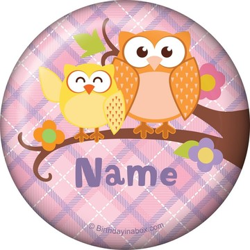 Nature Pink Personalized Button (Each)
