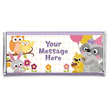 Nature Pink Personalized Candy Bar Wrapper (Each)