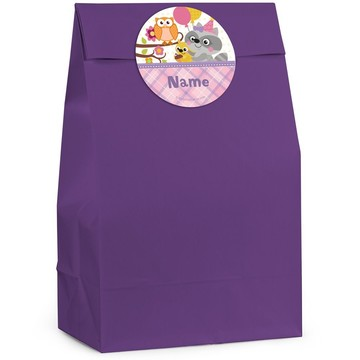 Nature Pink Personalized Favor Bag (12 Pack)