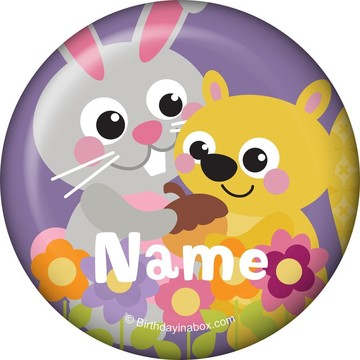 Nature Pink Personalized Mini Button (Each)