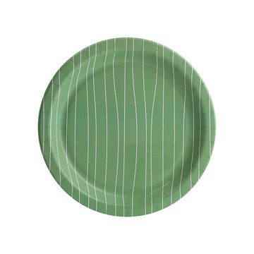 Nature's Path Stripe Dessert Plate (8)