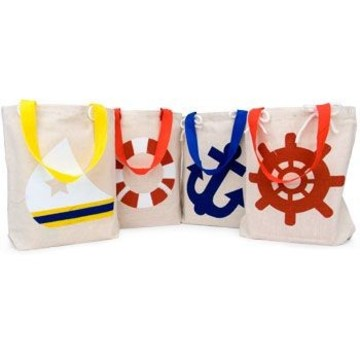 Nautical Favor Tote (12 pack)