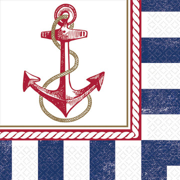 Nautical Luncheon Napkins (16 Count)
