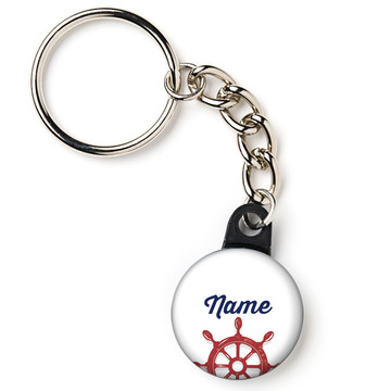 "Nautical Personalized 1"" Mini Key Chain (Each)"