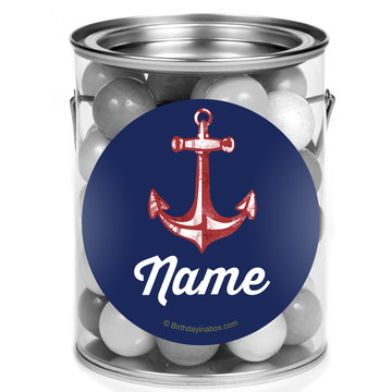 Nautical Personalized Mini Paint Cans (12 Count)