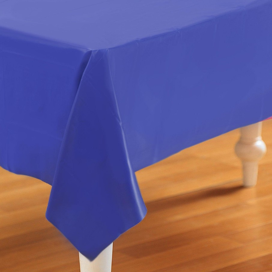 View larger image of Navy Blue Plastic Tablecover