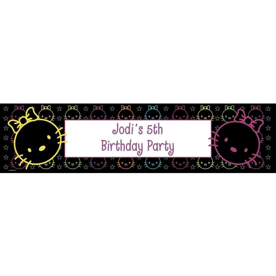 View larger image of Neon Kitty Personalized Banner (Each)