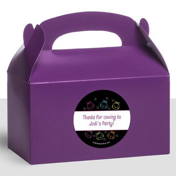 Neon Kitty Personalized Treat Favor Boxes (12 Count)