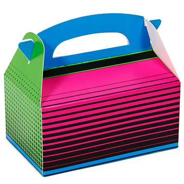 Neon Multicolor Empty Favor Boxes (4)