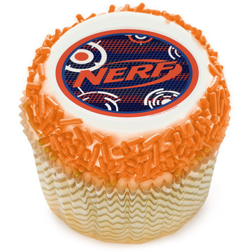 Nerf Blast Edible Cupcake Topper (12 Images)