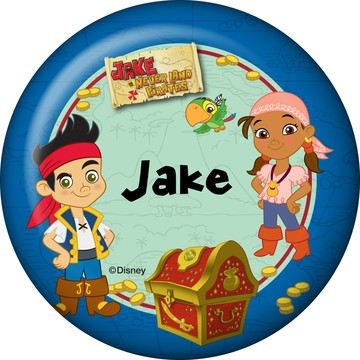 Never Land Pirates Personalized Button (Each)
