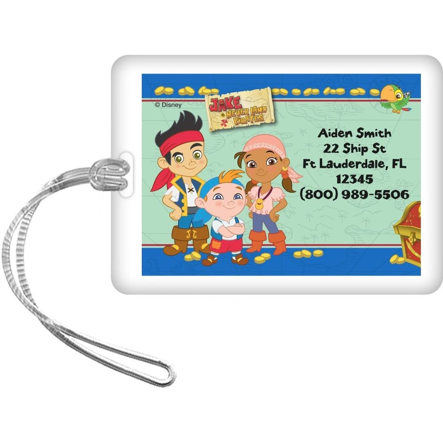 View larger image of Never Land Pirates Personalized Luggage Tag (Each)