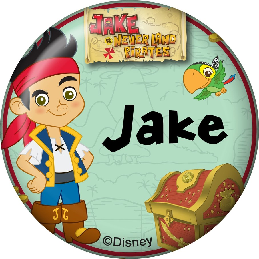 View larger image of Never Land Pirates Personalized Mini Button (Each)