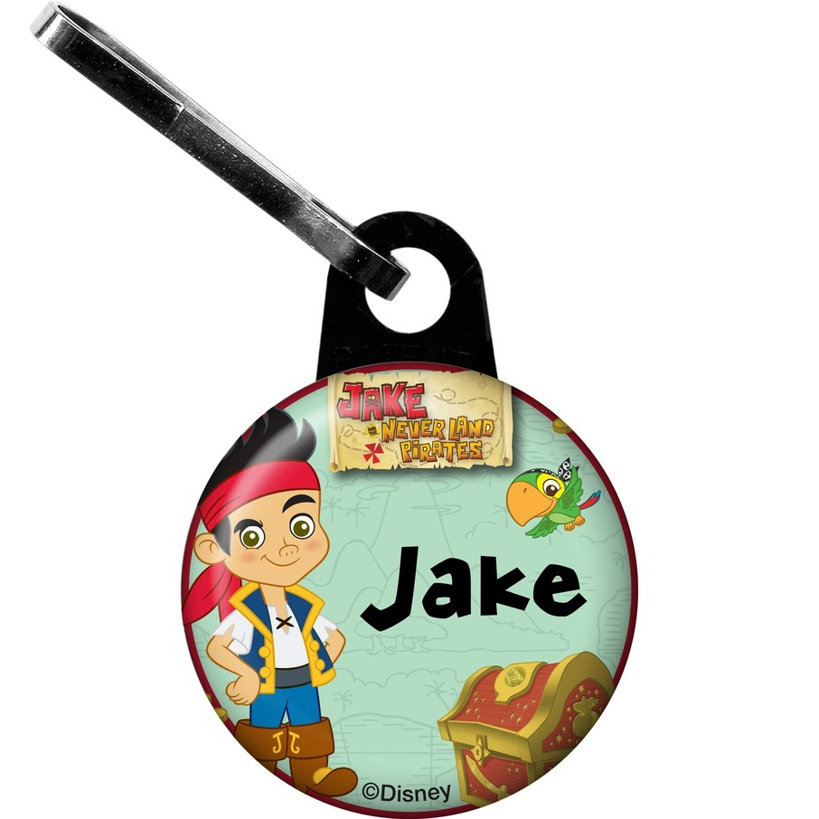 View larger image of Never Land Pirates Personalized Mini Zipper Pull (Each)