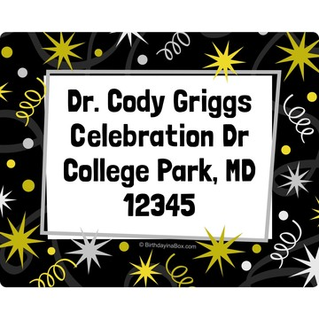New Years Personalized Address Labels (Sheet of 15)