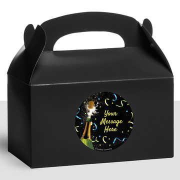 New Years Pop Personalized Treat Favor Boxes (12 Count)