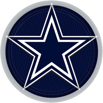 "NFL Dallas Cowboys 9"" Luncheon Plates (8 Pack)"