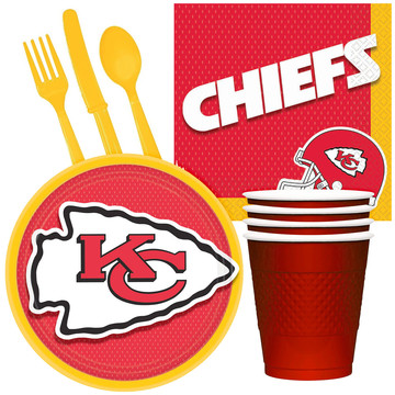 NFL Kansas City Chiefs Tailgate Party Pack (For 16 Guests)