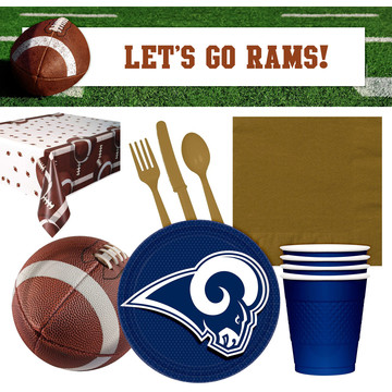 NFL Los Angeles Rams Tailgate Decoration Party Pack (For 16 Guests)