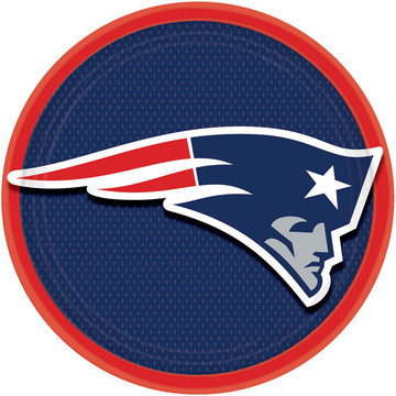 "NFL New England Patriots 9"" Luncheon Plates (8 Pack)"