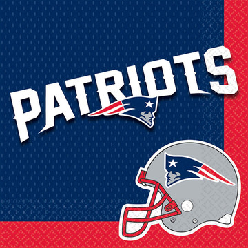 NFL New England Patriots Luncheon Napkins (16 Pack)