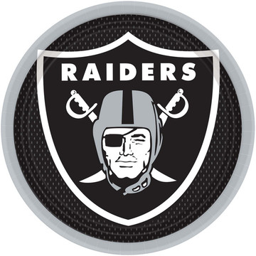 """NFL Oakland Raiders 9"""" Luncheon Plates (8 Pack)"""
