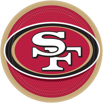 "NFL San Francisco 49ers 9"" Luncheon Plates (8 Pack)"