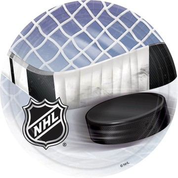 NHL Hockey Cake Plates (8 Pack)