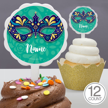 Night In Disguise Personalized Cupcake Picks (12 Count)