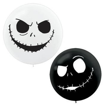"Nightmare Before Christmas Giant 24"" Latex Balloons (2ct)"