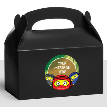 Ninja Master Personalized Treat Favor Boxes (12 Count)