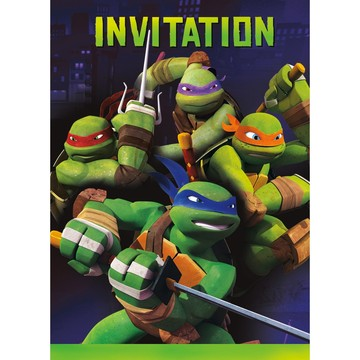 Ninja Turtles Invitations (8 Count)