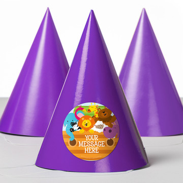 Noah's Ark Personalized Party Hats (8 Count)