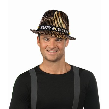 NYE Sequin Light Up Hat