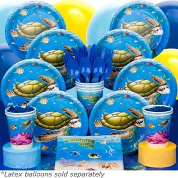 Ocean Birthday Party Deluxe Tableware Kit (Serves 8)