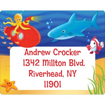 Ocean Friends Personalized Address Labels (Sheet of 15)