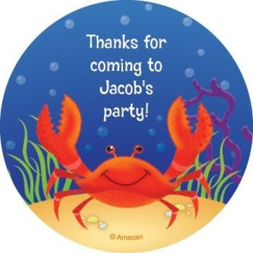 Ocean Friends Personalized Stickers (sheet of 12)
