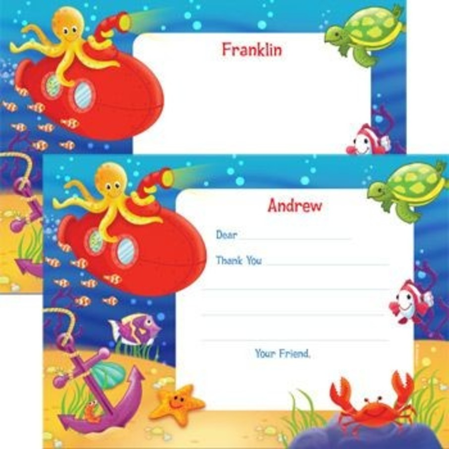 View larger image of Ocean Friends Personalized Thank You Note (each)