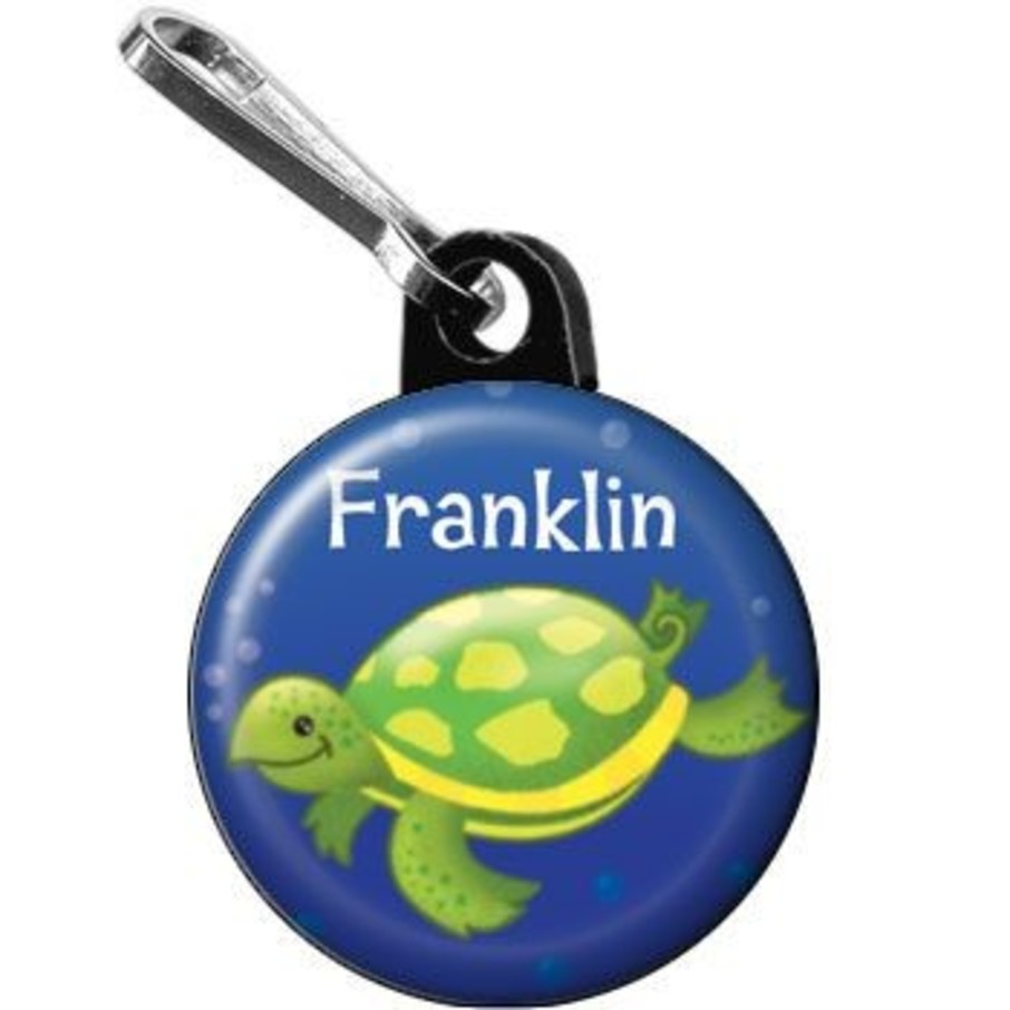 View larger image of Ocean Friends - Turtle Personalized Mini Zipper Pull (each)