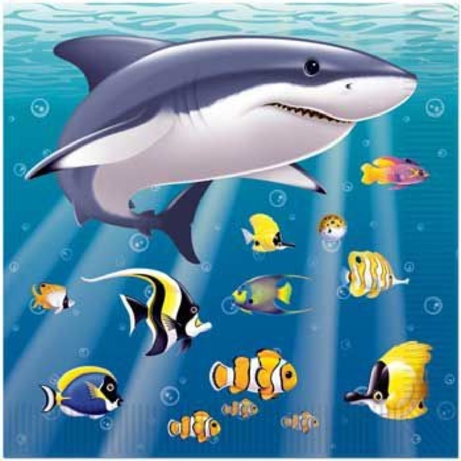 View larger image of Ocean Party Beverage Napkins (16-pack)