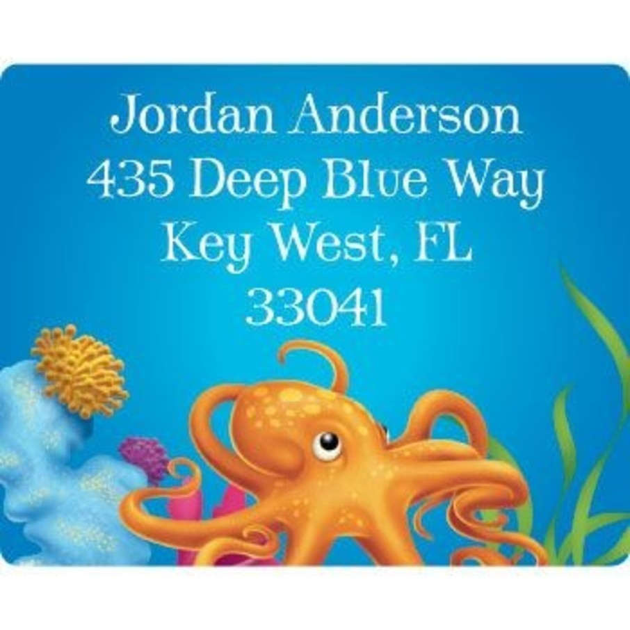 View larger image of Ocean Party Personalized Address Labels (sheet of 15)