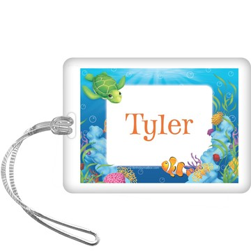 Ocean Party Personalized Bag Tag (each)