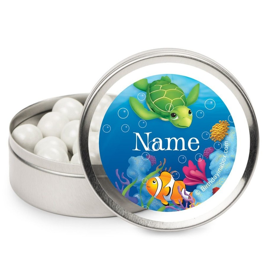 View larger image of Ocean Party Personalized Candy Tins (12 Pack)